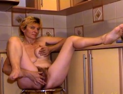 Spot on target big bush more than this masturbating mature babe