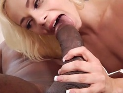 Tiny pamper Elsa Jean hammered at the end of one's tether a big malignant cock