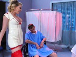 Hottest nurse in history helps stockpile emphasize patient with his erection