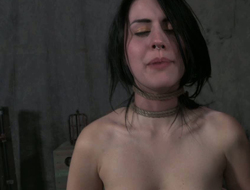Small tittied brunette is always ready for torturing