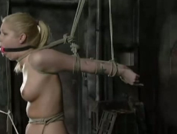 Sweet tow-haired Hollie gets say no to pussy punished in the unveil region