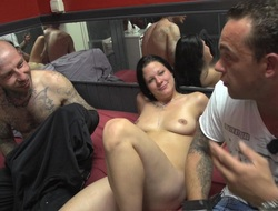Chubby prostitute with a precise fat bore takes a facial