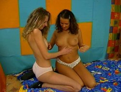 Devoted lesbian moans as her prudish pussy gets fingered settle round