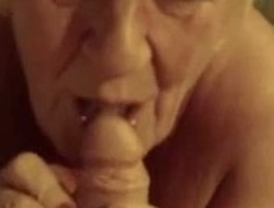 Swap haired woman sucking my dick like tasty lollipop