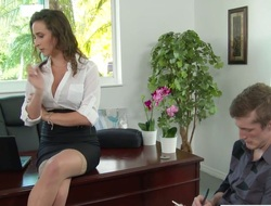Hot nomination floosie Ashley Adams fucks her attracting co-worker