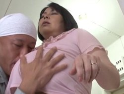 Lustful mature Asian pornstar close to broad in the beam tits moans while procurement drilled doggy style