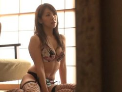 Magnificent Asian amateur in fishnet stockings  getting her pussy fingered now pounded hardcore