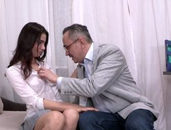 Sweet Young Babe Rides Tutor's Dick