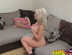 FakeAgentUK Beautiful wee blonde, amazing blowjob
