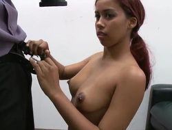 Latin casting chick Julissa James with perfect knockers and butt