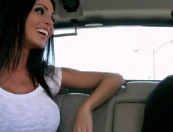 Jessica Jaymes giving freak in a car