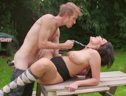 Danny D fucks hard Emma Leigh alfresco