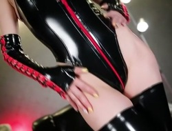 Best Japanese chick Akiho Yoshizawa alongside Horny doggy style, latex JAV video