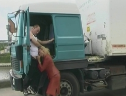 Horny trucker fucked a handful of hot MILF and came on will not hear of face