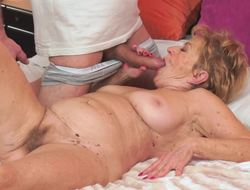 Dirty granny prefers to have coitus with younger partners