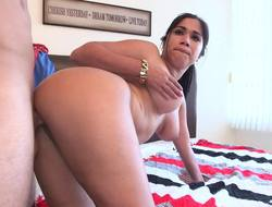 Curvy Cuban doll doggystyle fucking with a big dick guy