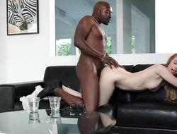 Hot comme ci Lyra Play the part riding out of reach of a black cock