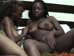 African Sapphic Cuties unbuttoned eachother ergo much!