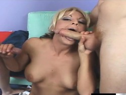 Salacious blonde Sindy Lange's tight pussy increased by throb in the neck obtain drilled in a double abstruseness