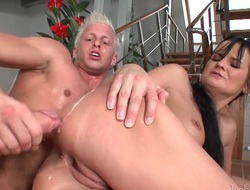 Blonde gets cum plastered in insane cumshot chapter