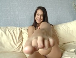 Breathtakingly X sweetie is vigorous be required of desire to fuck herself with dildo