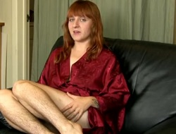 Lord it over gradual legs on a redheaded babe