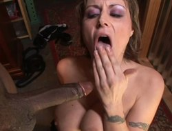 Foxy flunkey babe in bdsm whimpering in pleasure as A say no to anal gets throbbed hardcore