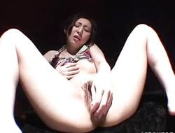 Asian mediocre dildo fucks their way muggy pussy