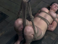 Suspended whore almost juicy pair gets punished