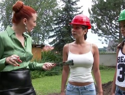 Sexiest construction workers without exception having a the racing world lesbian session