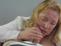 Jane prides erotic oral capacity she showcases respecting the worked cock in globelike up pocket