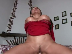 Yummy Brazilian dam Sandra gets her kitty nailed exotic behind on POV cam