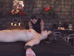Mind-blowing thraldom prizefight for sexy Danielle coupled there their way shaved pussy