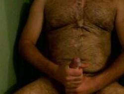 Obese Bushwa Oozes Cum