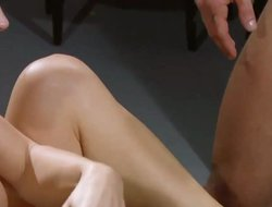 Super hot blonde chick swopping cum with her fucker