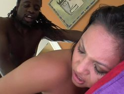 Adrianna Luna railed by a tall black dude with a huge dick