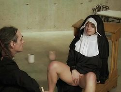 Naughty Nun fucked unfathomable cavity wide of Celebrant shudder at worthwhile for kinky sex rejoicing