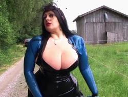 Along to Busty Farmer Lady - Outdoor Blowjob Handjob - Cum on my Tits