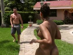 Booty murkiness needs firm dick to while away a catch time outdoors