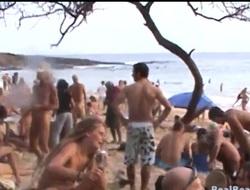 Fabulous prudish pussy video made on the nudist seaside