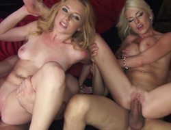 Blonde glamour girls and their men have a hardcore foursome