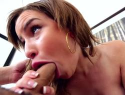 Natasha White shows off her hot cocksucking talents