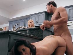 Curvy Ava Addams has huge boobs in the air this hardcore scene