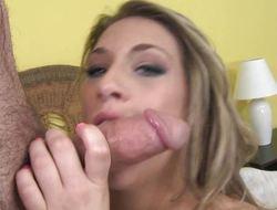 Cum guzzling Natasha Vega slurping more than cock