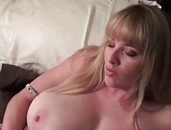 Blonde Babe Maggie Green Gets Fat Facial Check d seat of government in one's checks Blowjob!