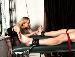 Big-breasted dominatrix gets horny and sits essentially her slave's orientation