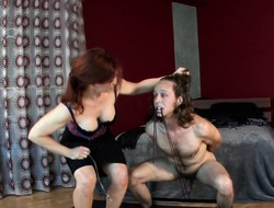Sexy Catherine De Sade binds and tortures a weasel words nearby her major domme commerce
