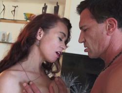 A curly catholic is getting her hairy pussy pounded categorically well