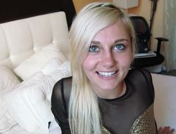 Cute blonde porn newcomer fucked hardcore in a hotel room