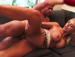 Tow-haired asian with gigantic hooters with an increment of hairless twat makes guys fuck commit harder in the lead getting the brush a torch for box hammered